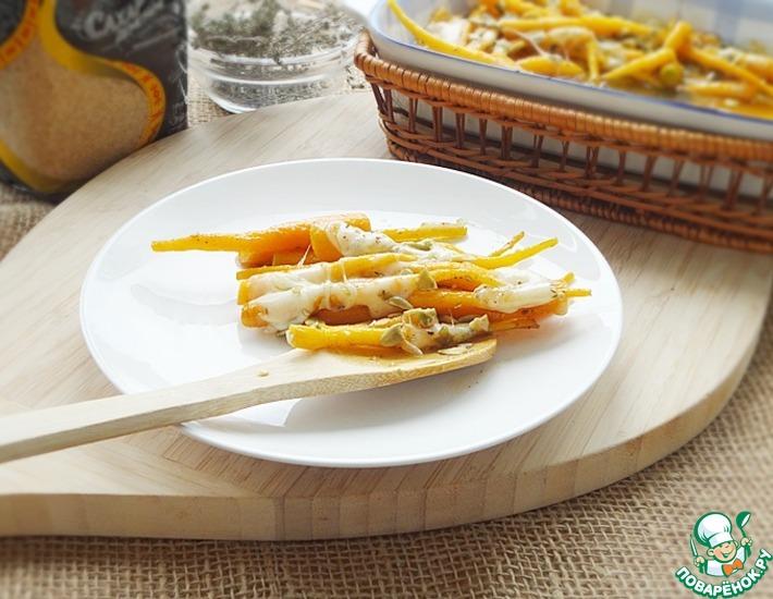 Рецепт: Молодая морковь с моцареллой и семечками