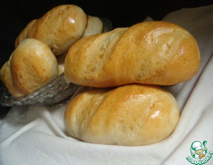 Рецепт: Маленькие батоны Филипповские
