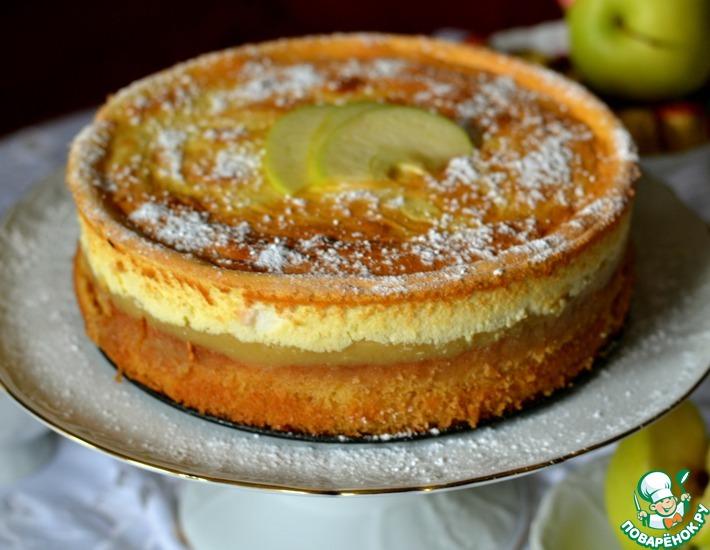 Рецепт: Торт с яблочным пюре