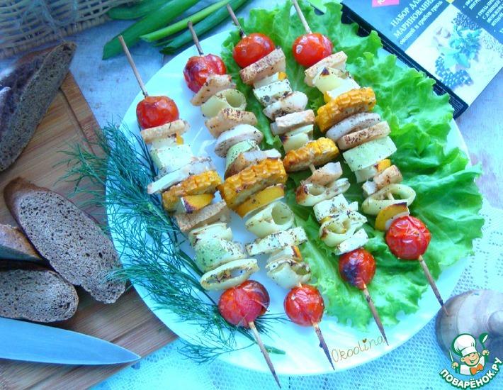 Рецепт: Овощные шашлычки