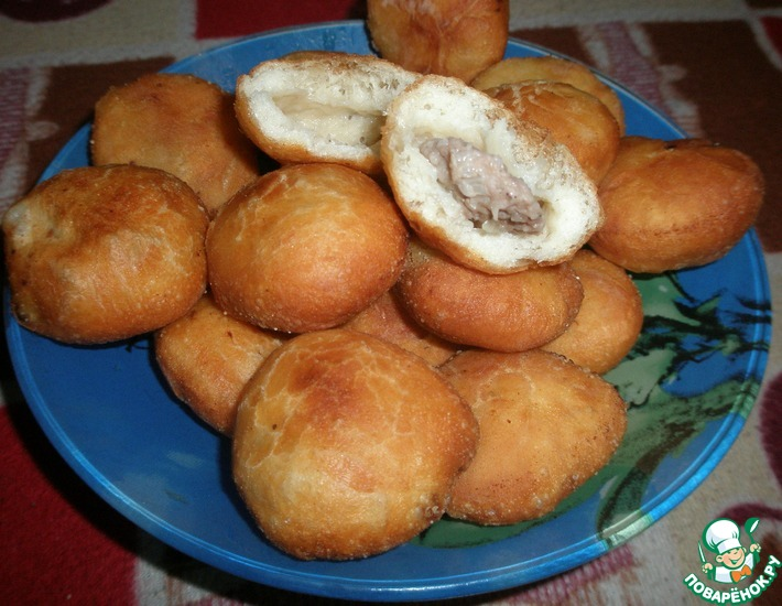 Рецепт: Мини-беляши Для пикника