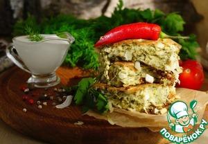 Пирог ленивый с капустой и яйцами Укроп