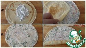 Вкусные блины с творожной и сырной начинкой на Масленицу или праздничный стол