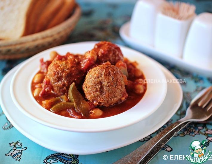 Рецепт: Фрикадельки из баранины в овощном соусе