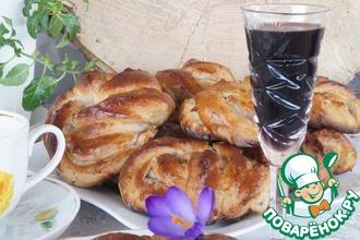 Рецепт: Ореховые булочки с кагором