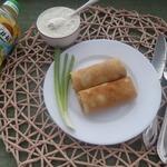 Соус с хреном для блинов с гречкой и овощами