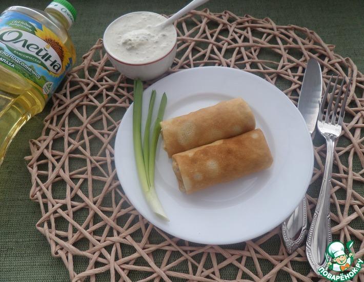 Рецепт: Соус с хреном для блинов с гречкой и овощами