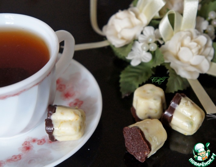 Рецепт: Конфеты из белого шоколада Прантанье