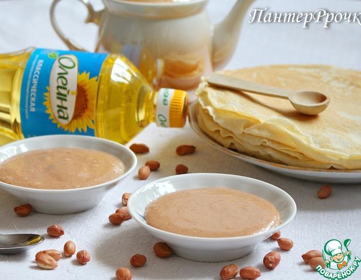 Рецепт: Шоколадно-арахисовый дип