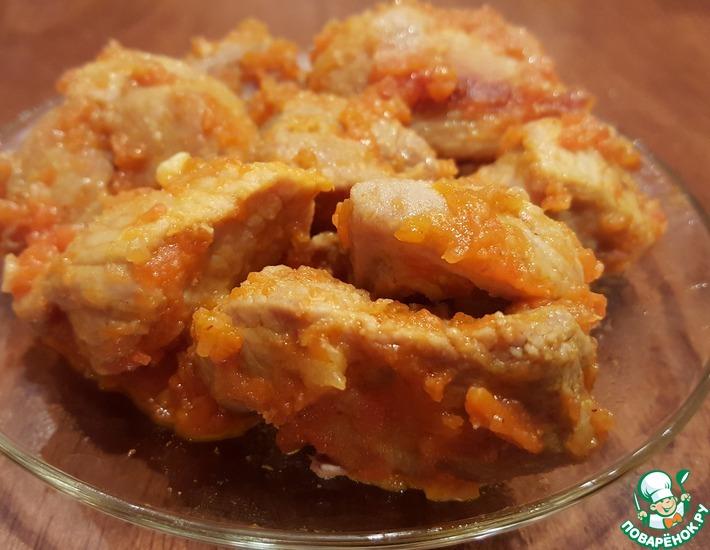 Рецепт: Свинина тушёная Без хлопот