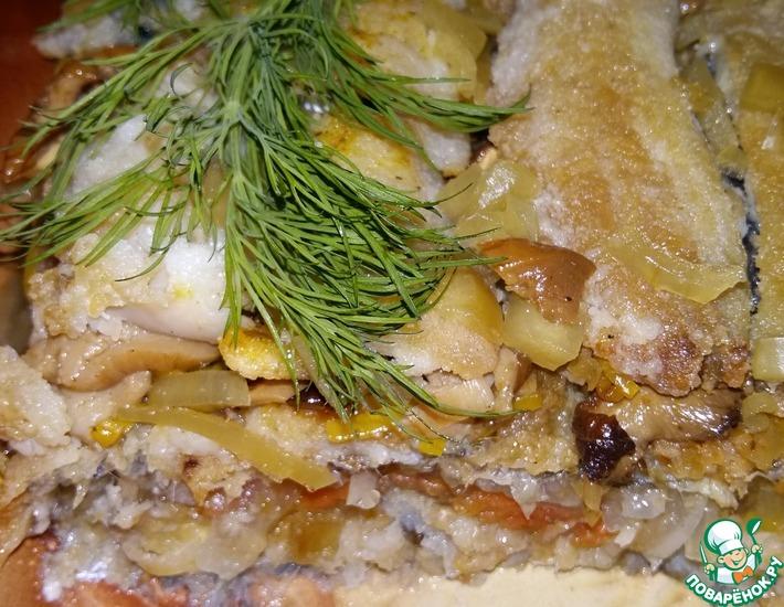 Рецепт: Маринованная салака в желе