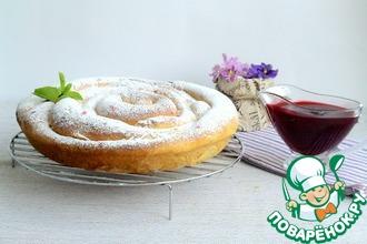 Рецепт: Пирог-улитка из сдобы Ришара Бертине