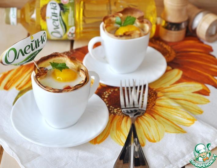 Рецепт: Блины с яичницей по-баскски