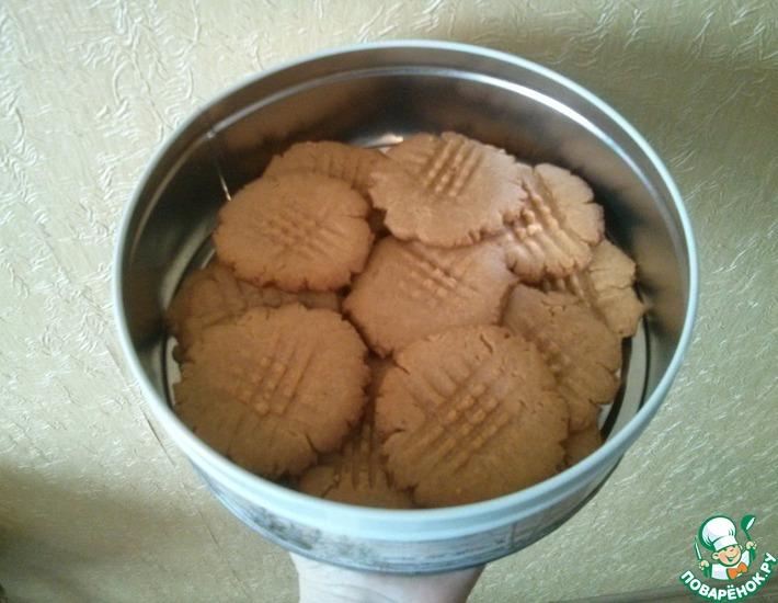 Рецепт: Американское арахисовое печенье