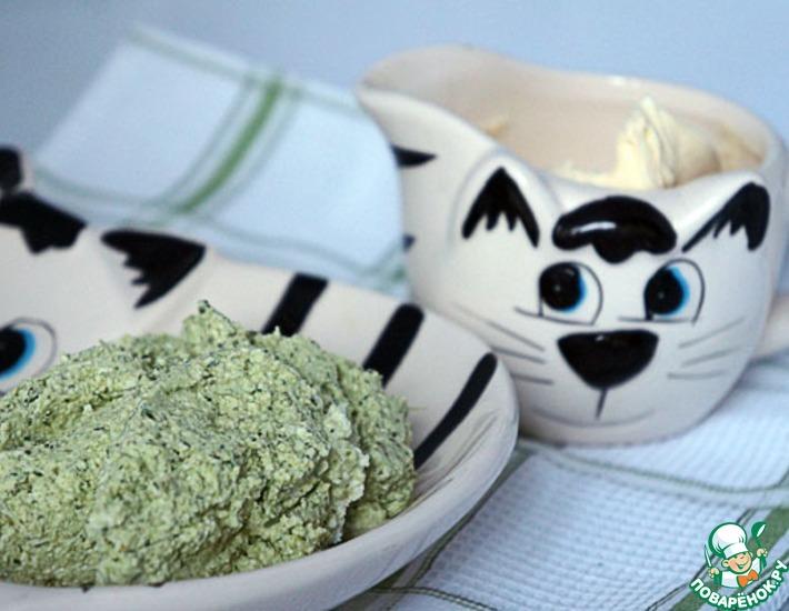 Рецепт: Зеленый творог