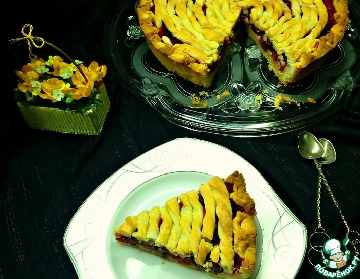 Рецепт: Пирог с вишней и белым шоколадом