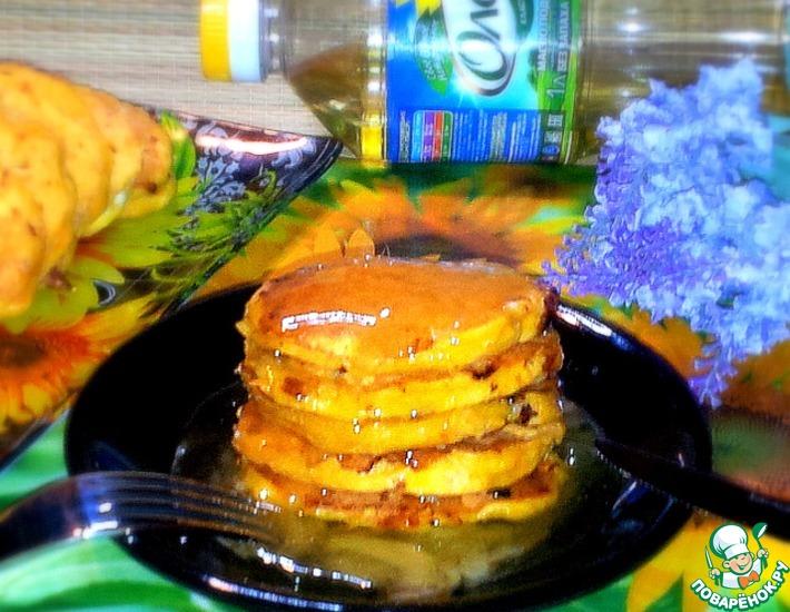 Рецепт: Морковные оладьи под лимонно-медовым соусом