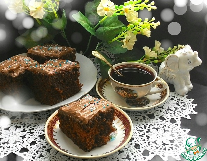 Рецепт: Шоколадный пирог с кока-колой