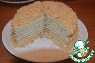 Рецепт: Торт Сметанник на сковороде