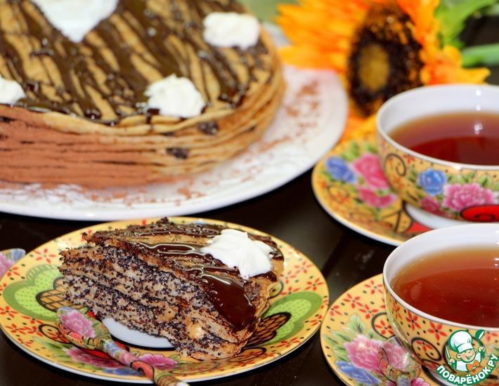 Рецепт: Блинчатый пирог Маковые напевы