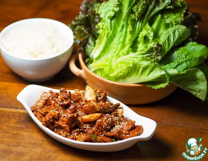 Рецепт: Свинина в пан Азиатском стиле