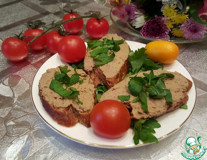 Рецепт: Паштет из печени кролика с шиитаке