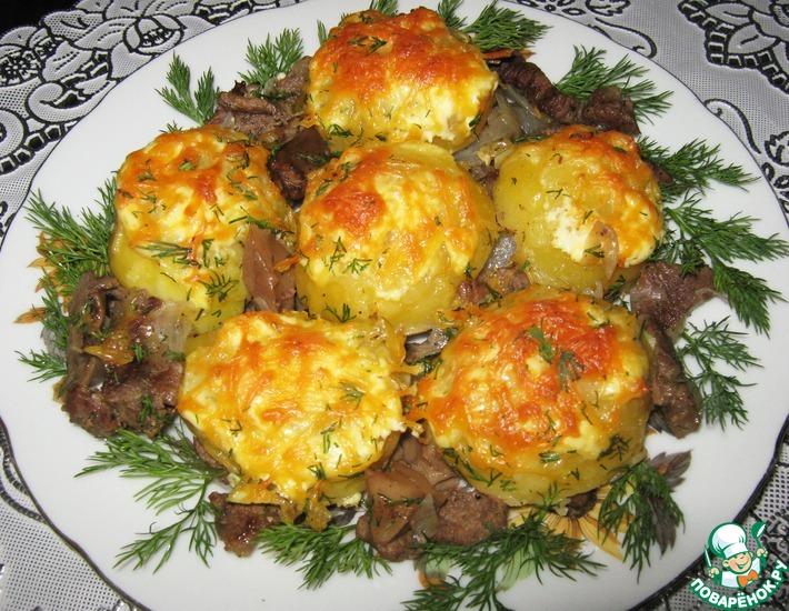 Рецепт: Картофель с мясом По-светски