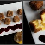 Сыр фри с ягодным соусом