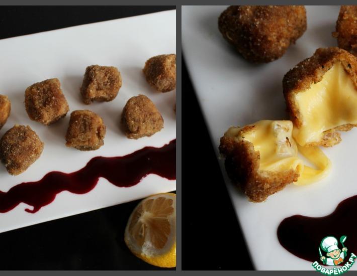 Рецепт: Сыр фри с ягодным соусом