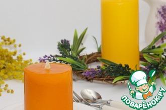 Рецепт: Десерт Апельсиновая свечка