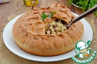 Рецепт: Пирог с мясом и картофелем