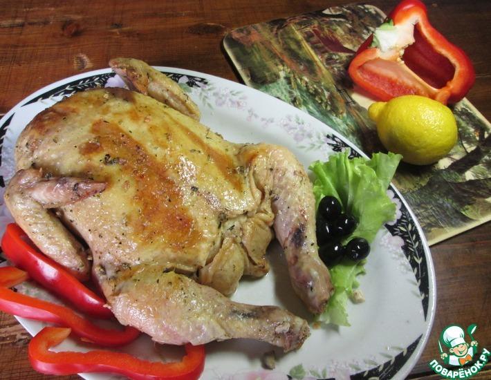 Рецепт: Курица, фаршированная блинчиками