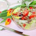 Овощной салат с индейкой Мозаика