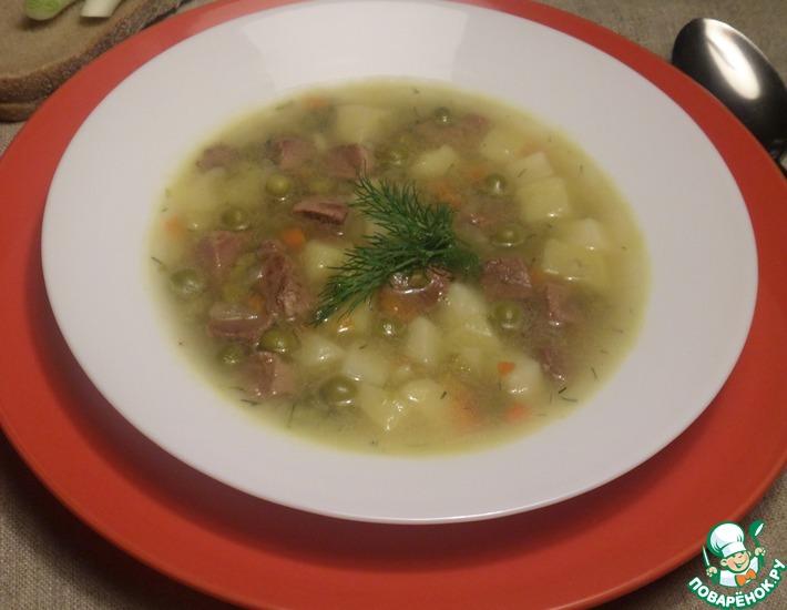 Рецепт: Суп Дважды гороховый