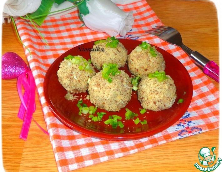 Рецепт: Печеночно-сырные шарики