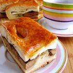 Пирог с печенкой и адыгейским сыром