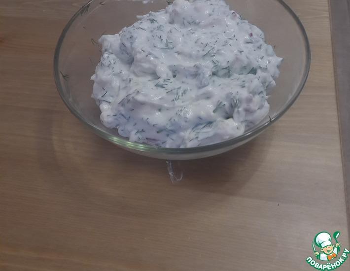 Рецепт: Салат из сузьмы, айрана и куртапа