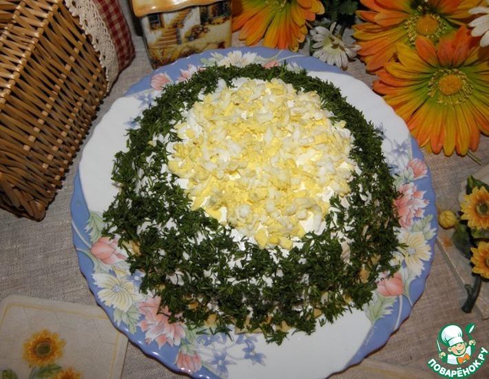 Рецепт: Блинный торт Селедочное удовольствие