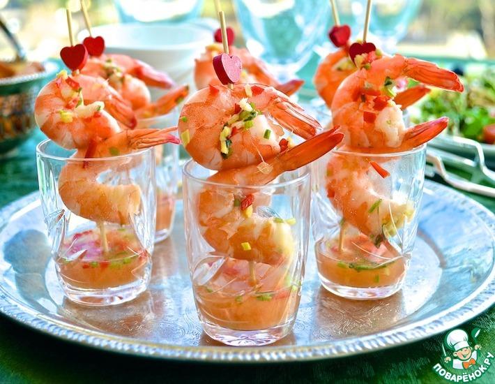 Рецепт: Креветки в тайском стиле