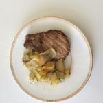 Антрекот с овощами в духовке