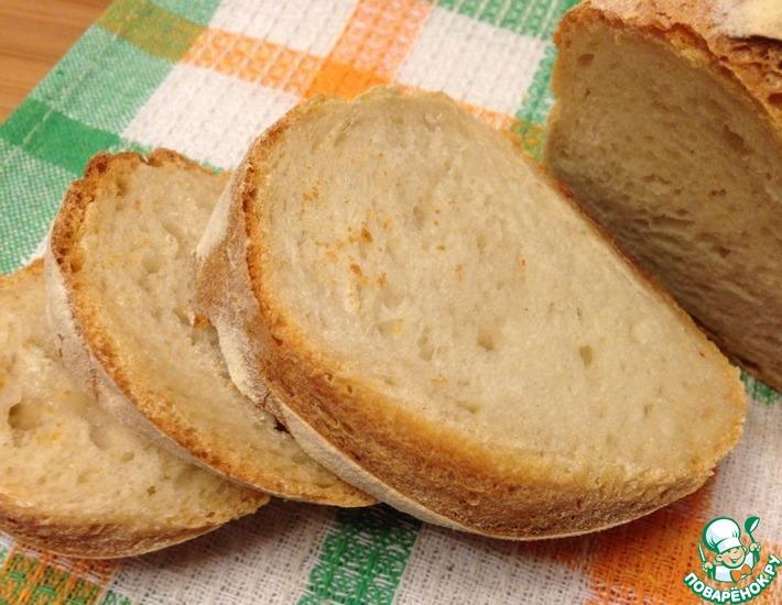Рецепт: Итальянский народный хлеб на закваске