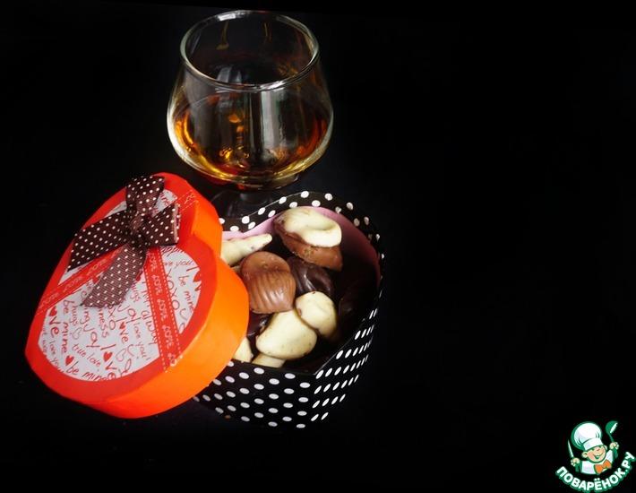 Рецепт: Шоколадные конфеты с ореховым пралине