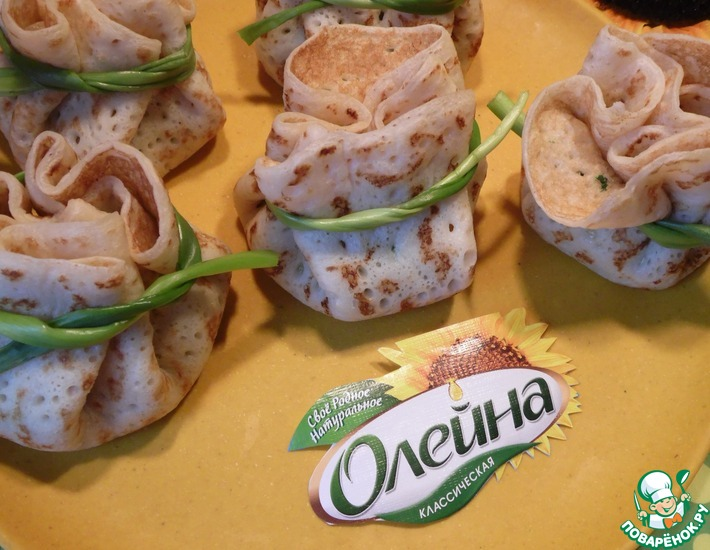 Рецепт: Ветчинно-шпинатная начинка к блинам
