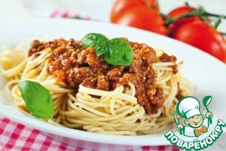 Рецепт: Спагетти Болонезе