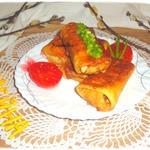 Блины с карамелизованным луком и картофелем