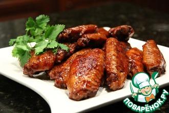 Рецепт: Куриные крылья по-китайски