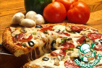 Рецепт: Пицца Пепперони