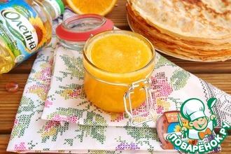 Рецепт: Апельсиновый соус к блинчикам