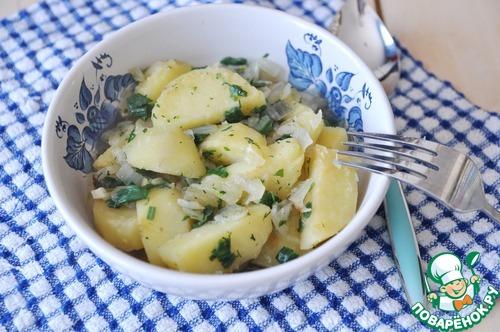 как приготовить салат из картошки фото пошаговая инструкция поваренок