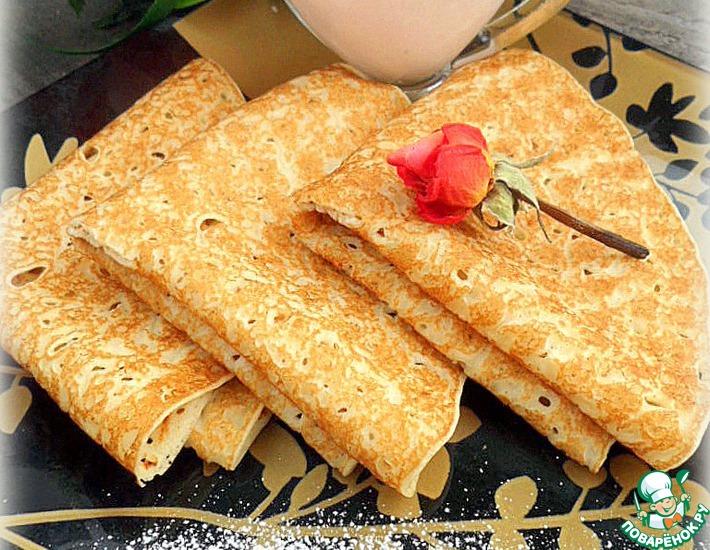 Рецепт: Блины с кисельно-молочным соусом